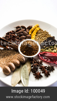 Indian Garam Masala / Colourful spices