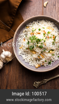 Garlic rice or Lahsun Pulav