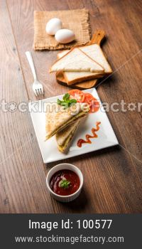 Indian Bread Omelette/Omelet sandwich