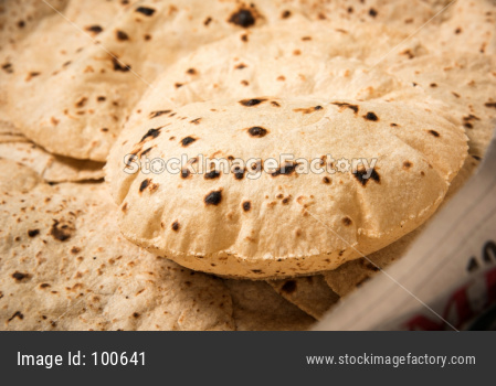 Roti or chapati making machine, selective focus