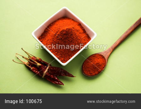 Red chilli / Lal Mirch powder and dried chillies