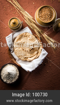 Indian bread / Chapati / Fulka / Gehu Roti