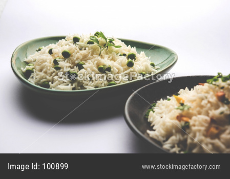 Green Peas and Garlic rice