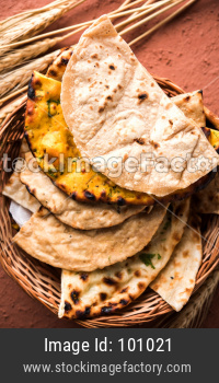 Assorted Indian bread basket