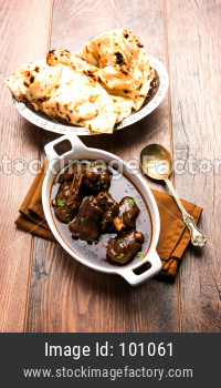lamb shank or mutton or gosht paya or khoor curry