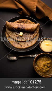 Indian sweet Puran Poli / Puranpoli / Holige / Obbattu