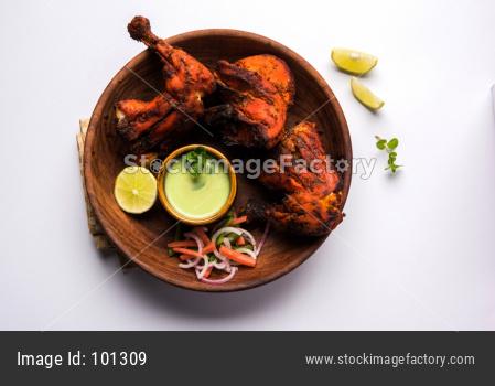 Tandoori chicken or barbecue grilled chicken legs