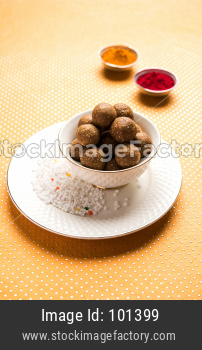 Til Gul OR Sweet Sesame Laddu with Sugar ball Crystals and haldi kumkum