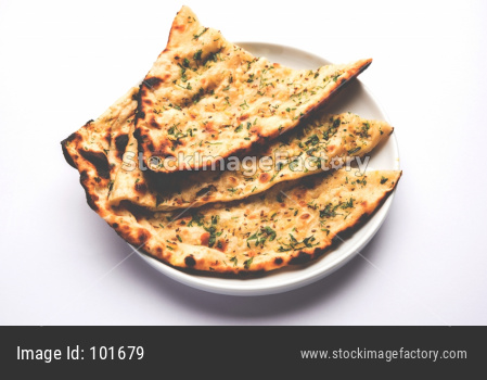 Garlic and coriander naan / Roti