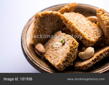 Sweet Gajak or til papdi or patti for Makar Sankranti Festival