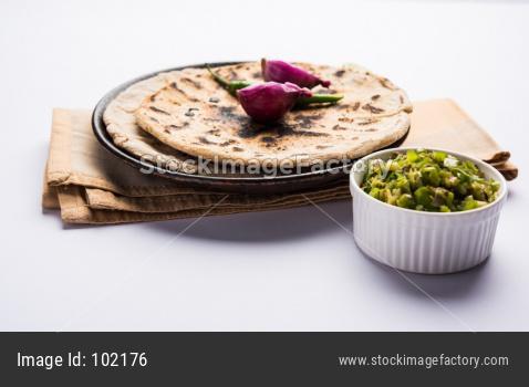 Bhakar or Bajra roti or Jowar Roti or Indian bread