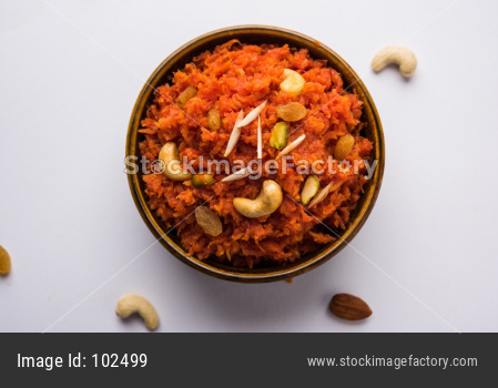 Gajar Halwa Or Carrot sweet dessert