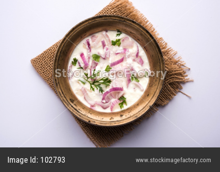 Onion curd Raita / salad OR Pyaj Koshimbir