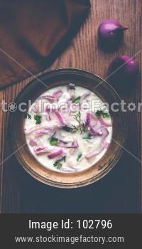 Onion curd Raita / salad OR Pyaj Koshimbir