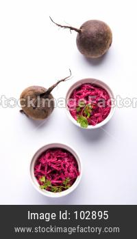 Chukandar or Beetroot Raita / Pachadi / koshimbir