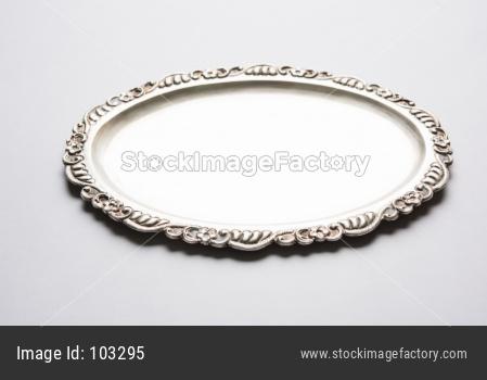 Empty Silverware or Oval Shape Silver Plate