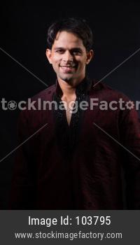 Indian man in ethnic wear