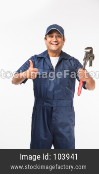 Indian plumber or handyman