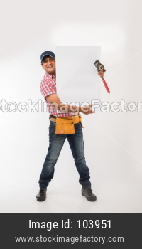 Indian/Asian plumber or handyman