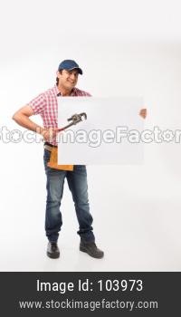 Indian/Asian plumber or handyman