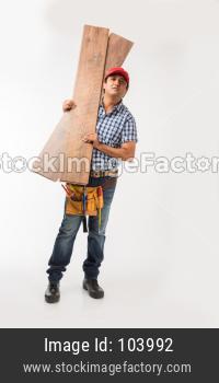 Indian Carpenter or woodworker