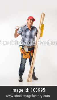 Indian Carpenter or woodworker
