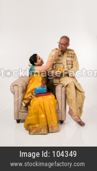 Indian couple celebrating festival