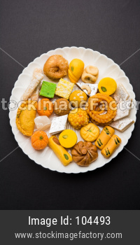 Indian sweets or mithai for diwali festival or special occassion