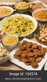 diwali sweets and snacks group photo