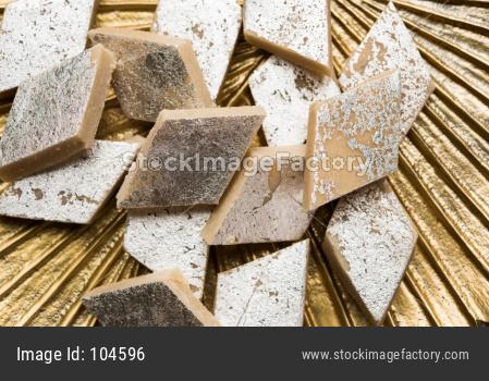 sweet Kaju Katli or Kaju Burfi