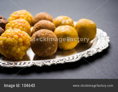 variety of sweet laddu or laddoo or ladu