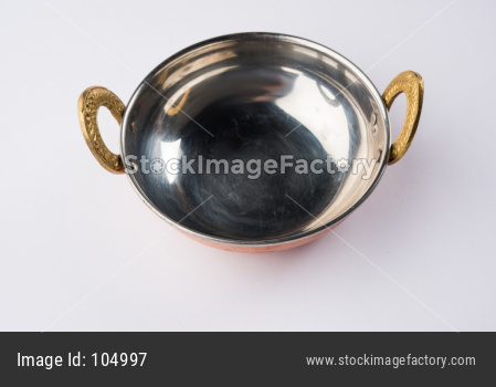 Empty kadhai or karahi or frying pan