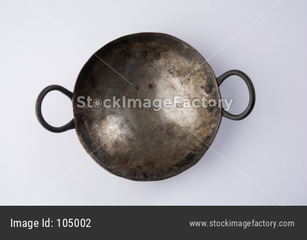 Empty kadhai or karahi or frying pan
