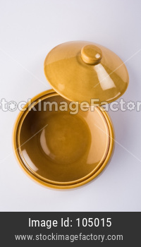 Empty Ceramic Bowl with Lid