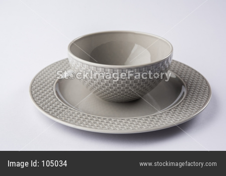 Empty bowl with plate