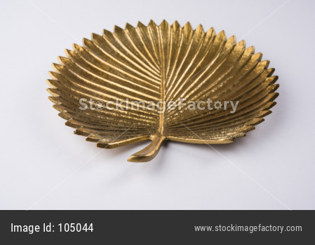 Empty golden designer ceramic plate