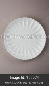 Empty white ceramic round plate