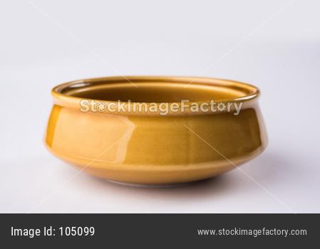 Brown Empty Ceramic Bowl