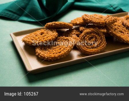 Chakli or Chakali or Murukku, popular salty food made during diwali festival in India