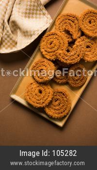 Chakli or Chakali or Murukku, popular salty food made during diwali festival in India