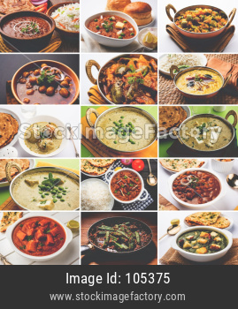 Collage of indian popular main course vegetable recipe