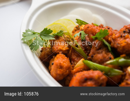Chicken 65 - spicy deep fried Bar appetizer OR Snack