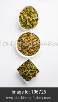 Group photo of Green Beans, Gowar /cluster beans and bhindi/ladies finger OR okra