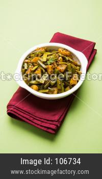 Gwar ki sabzi - Cluster Beans Curry