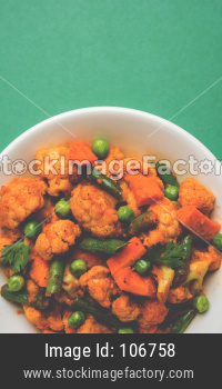 Phool Gobi Matar Masala OR cauliflower Curry