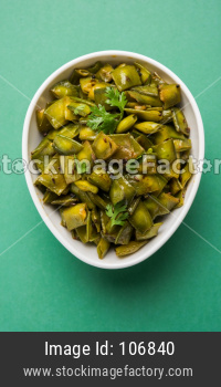 Flat Green Beans sabji or Curry