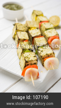Paneer Tikka Kabab barbecue / Tandoori