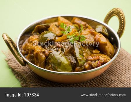 Baingan or Brinjal Sabzi / Eggplant Curry