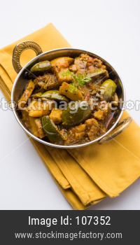 Baingan or Brinjal Sabzi / Eggplant Curry