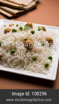 Paneer, Soya Bean Chunk Pulav OR Pilaf